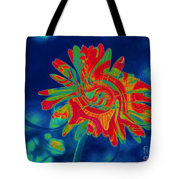 Tote Bag featuring the photograph Paisley Gerber by Donna Bentley