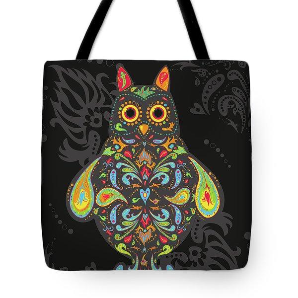 Paisley Owl Tote Bag