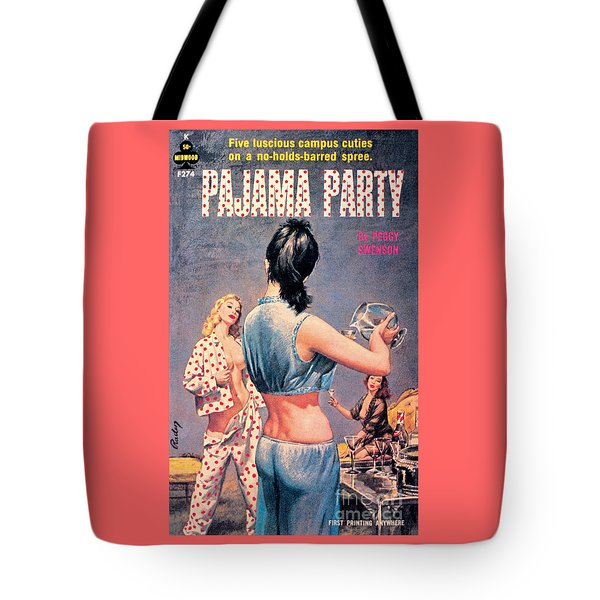 Tote Bag featuring the painting Pajama Party by Paul Rader