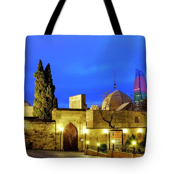Tote Bag featuring the photograph Palace Of The Shirvanshahs by Fabrizio Troiani