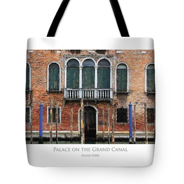 Tote Bag featuring the digital art Palace On The Grand Canal by Julian Perry