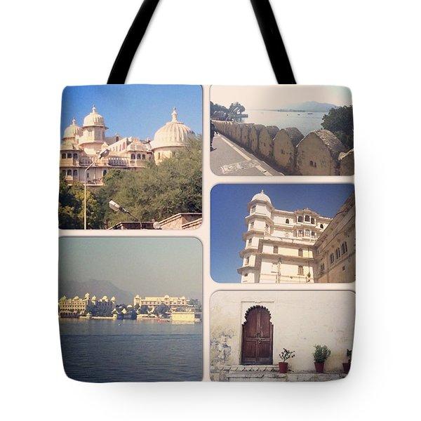 Palaces At Udaipur Tote Bag