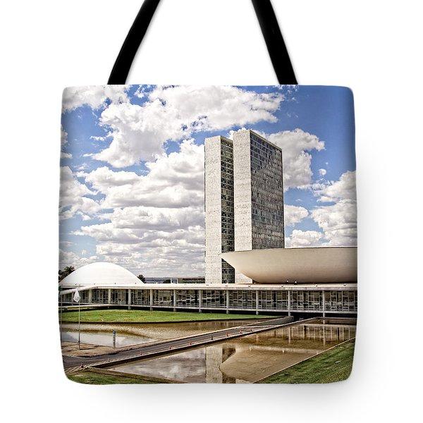 Tote Bag featuring the photograph Palacio Do Congresso Nacional by Kim Wilson