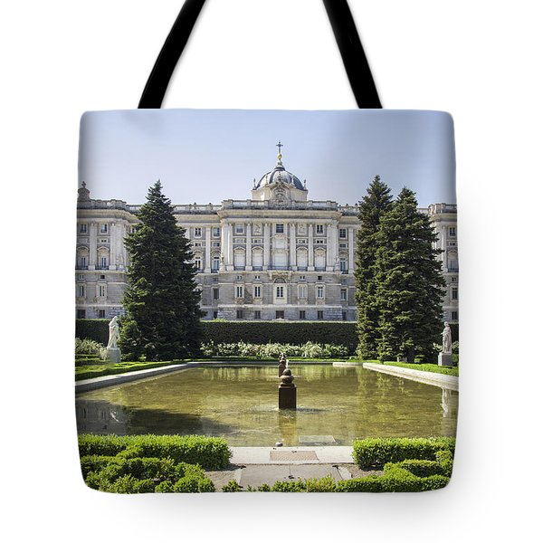 Palacio Real De Madrid Tote Bag by Ross G Strachan