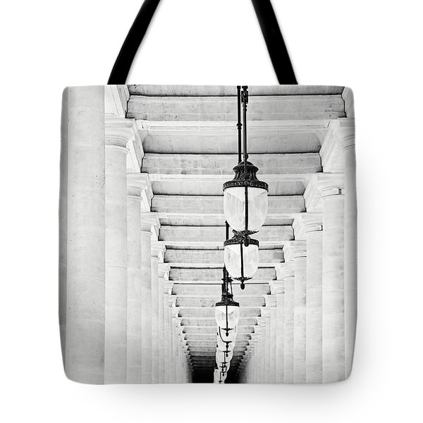 Palais-royal Arcade Black And White - Paris, France Tote Bag by Melanie Alexandra Price