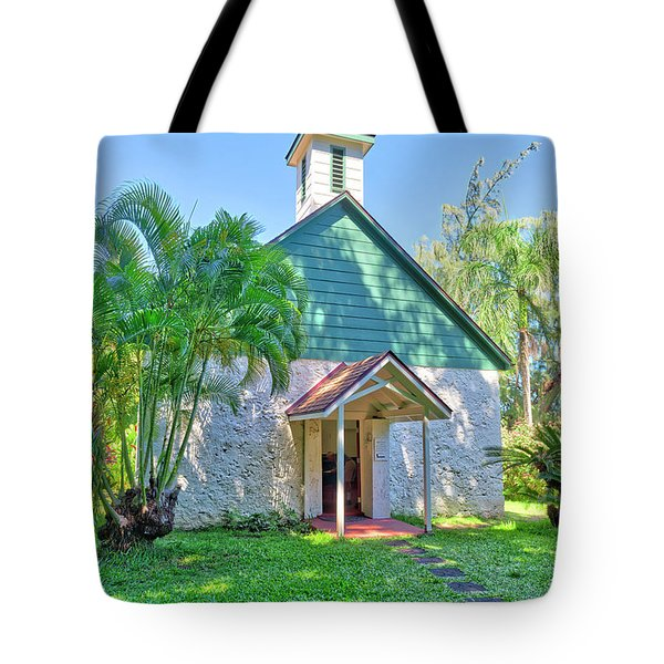 Tote Bag featuring the photograph Palapala Ho'omau Congregational Church by Jim Thompson
