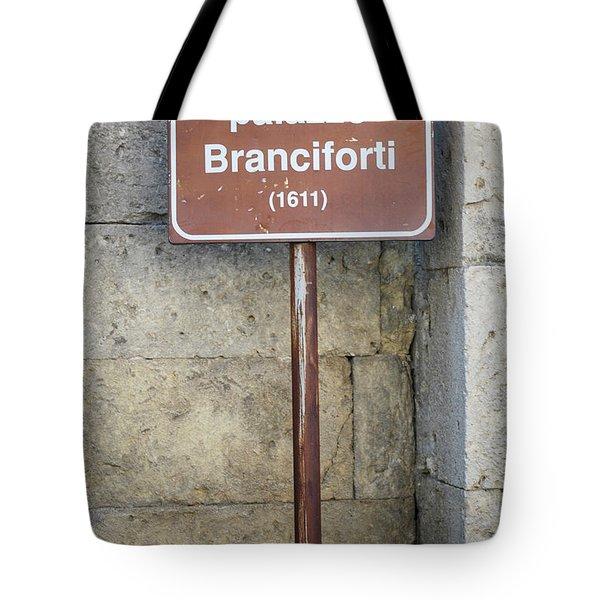palazzo Branciforte 1611 Tote Bag