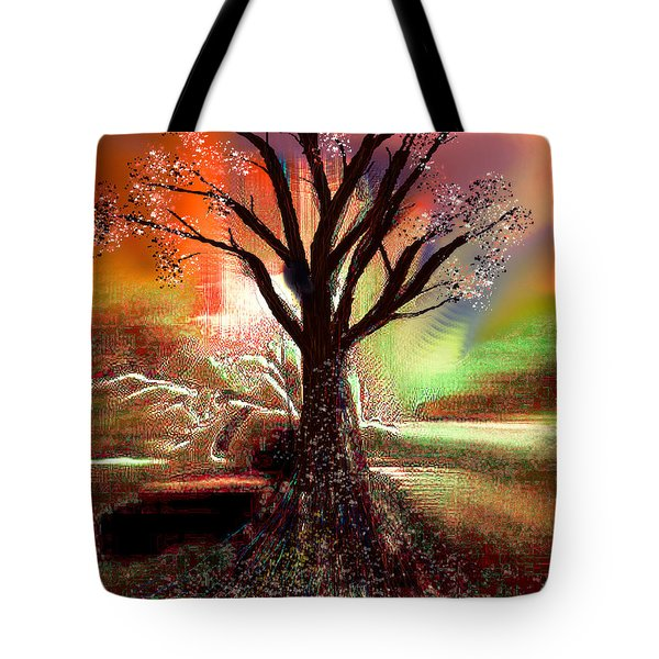 Tote Bag featuring the digital art Pale Moonlight 2 by Yul Olaivar