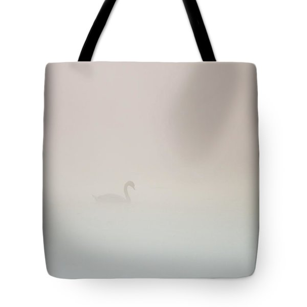Tote Bag featuring the photograph Pale Outline In The Fog by Davor Zerjav