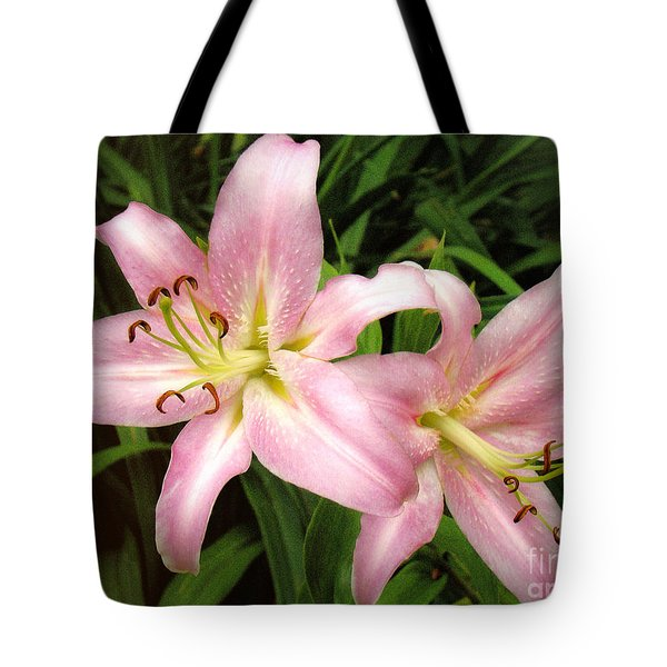 Tote Bag featuring the photograph Pale Pink Beauties by Sue Melvin