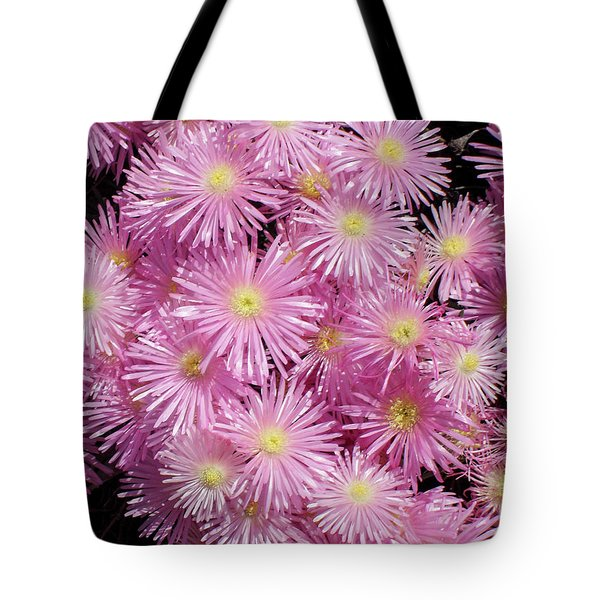 Pale Pink Flowers Tote Bag by Mark Barclay