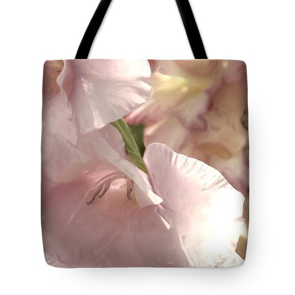 Pale Pink Glads Tote Bag