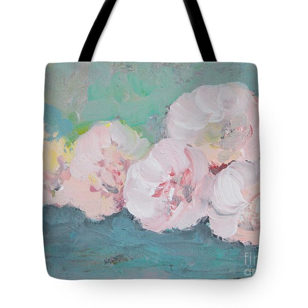 Pale Pink Peonies Tote Bag by Robin Maria Pedrero