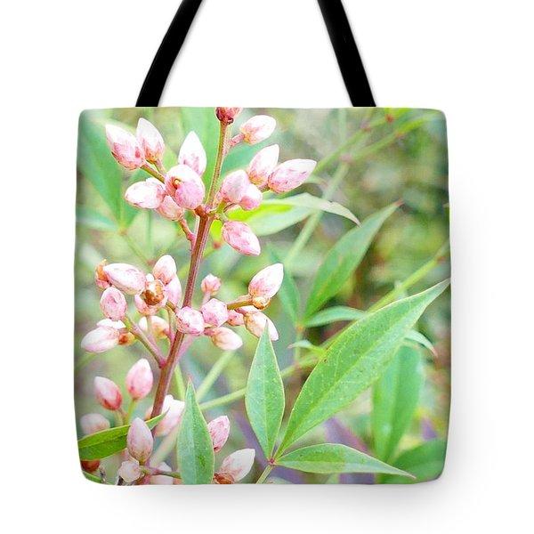 Pale Powder Pink Plant Tote Bag
