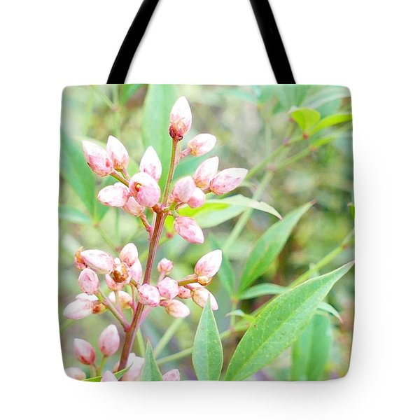 Tote Bag featuring the photograph Pale Powder Pink Plant by Ivana Westin