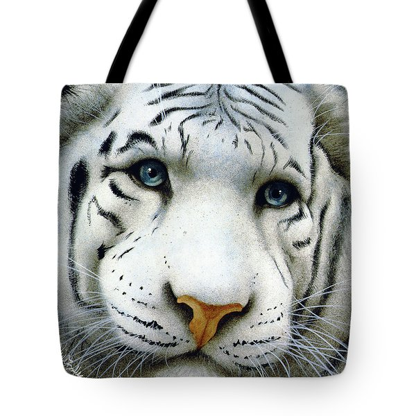 Tote Bag featuring the painting Pale Prince... by Will Bullas