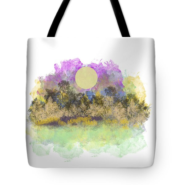 Pale Yellow Moon Tote Bag by Jessica Wright