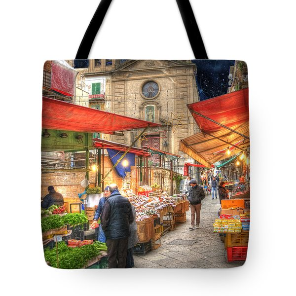 Palermo Market Place Tote Bag by Juli Scalzi