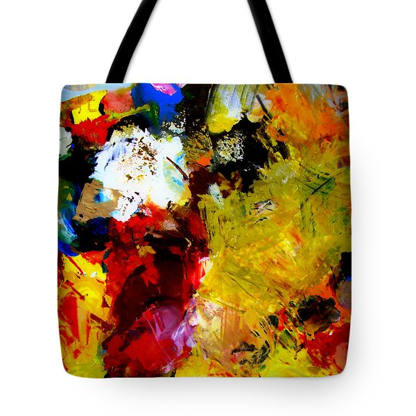 Palette Abstract Square Tote Bag