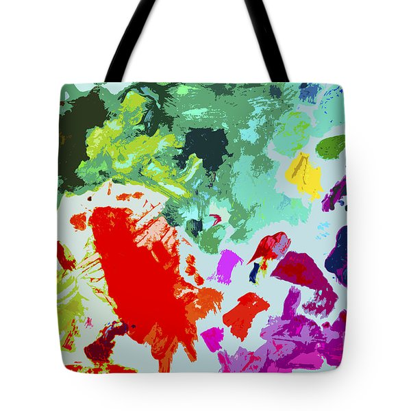 Tote Bag featuring the painting Palettescape by Jeanette French