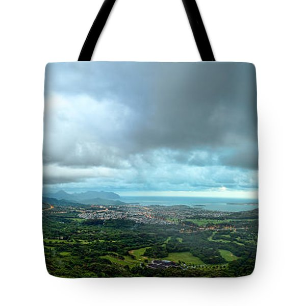 Tote Bag featuring the photograph Pali Lookout Dawn by Dan McManus