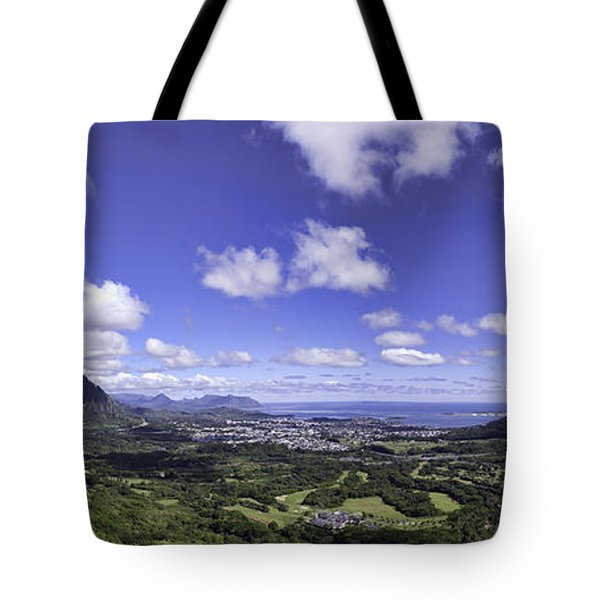 Pali Lookout Panorama Tote Bag