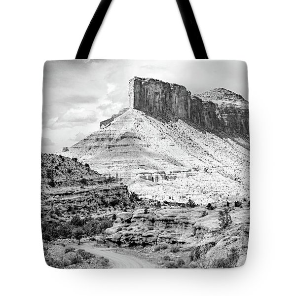 Tote Bag featuring the photograph Palisade Island Mesa by Dutch Bieber