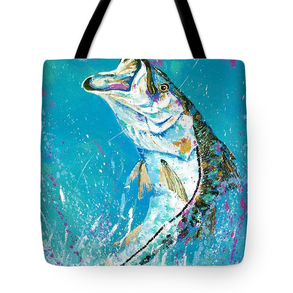 Pallet Knife Jumping Snook Tote Bag