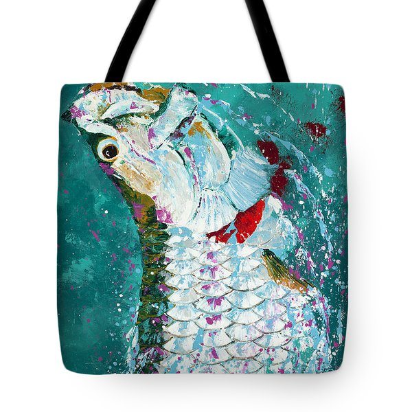 Pallet Knife Jumping Tarpon Tote Bag by Kevin Brant