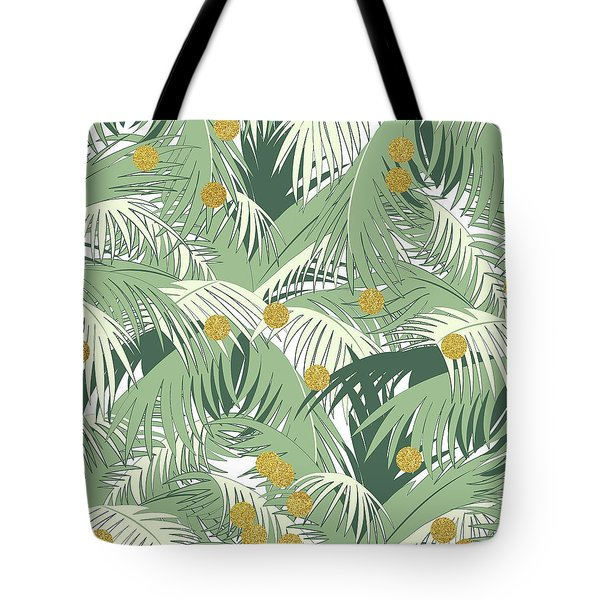 Palm And Gold Tote Bag