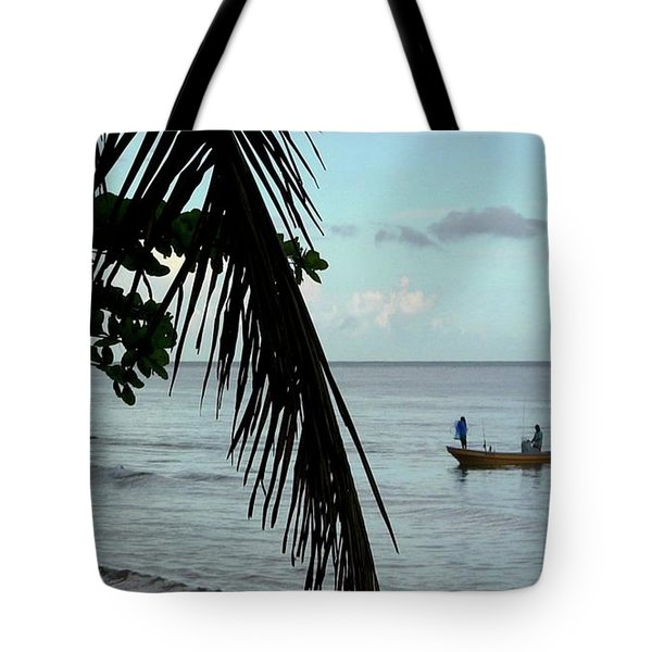 Palm And Tree Tote Bag