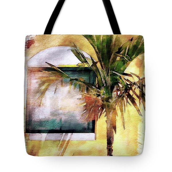Palm And Window Tote Bag