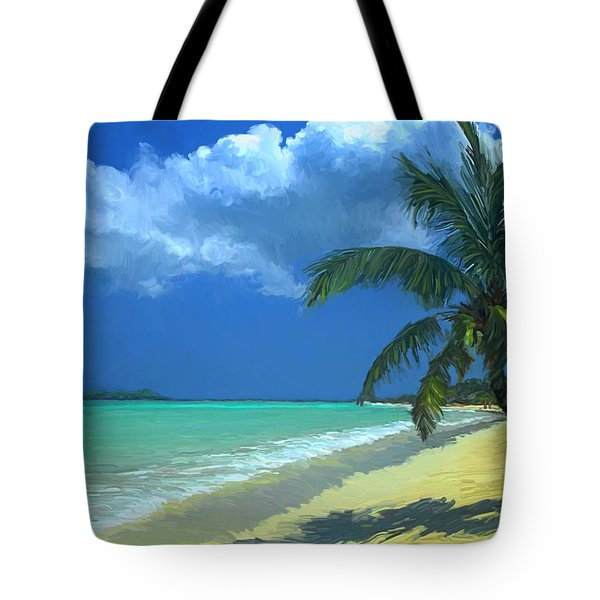 Palm Beach In The Keys Tote Bag