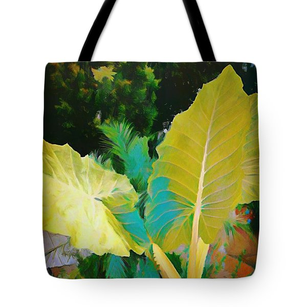 Tote Bag featuring the painting Palm Branches by Mindy Newman