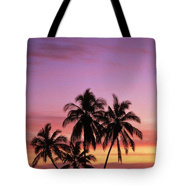 Palm Cluster Tote Bag by Allan Seiden - Printscapes