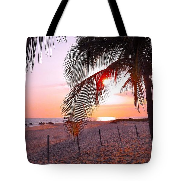 Palm Collection - Sunset Tote Bag by Victor K