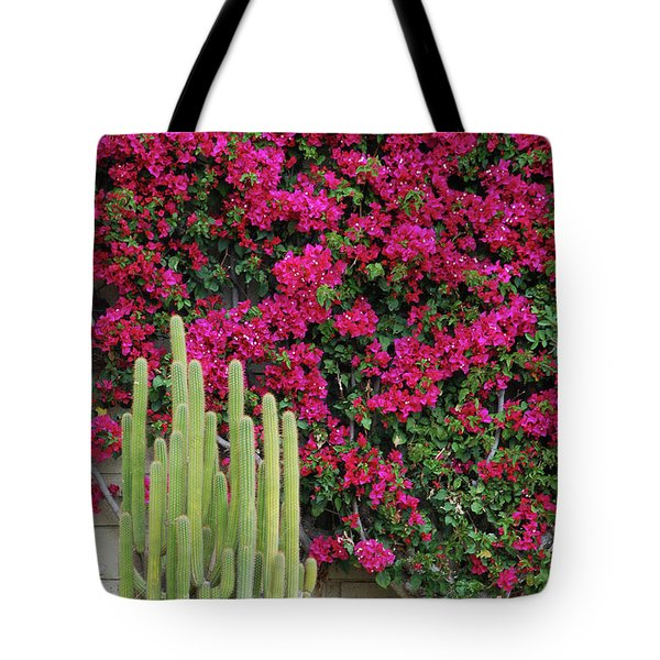 Palm Desert Blooms Tote Bag
