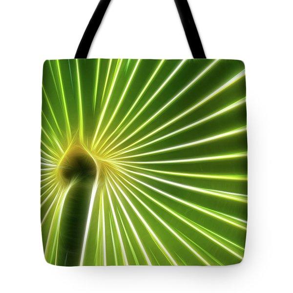 Palm Glow Tote Bag