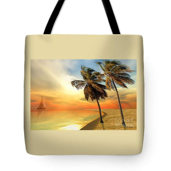 Palm Island Tote Bag by Corey Ford