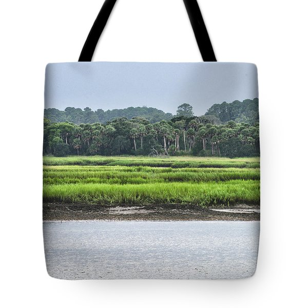 Tote Bag featuring the photograph Palm Island by Margaret Palmer
