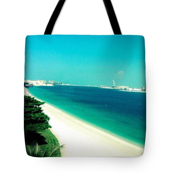 Palm Jumeirah  Tote Bag