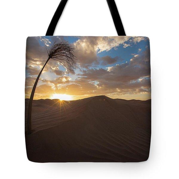 Palm On Dune Tote Bag