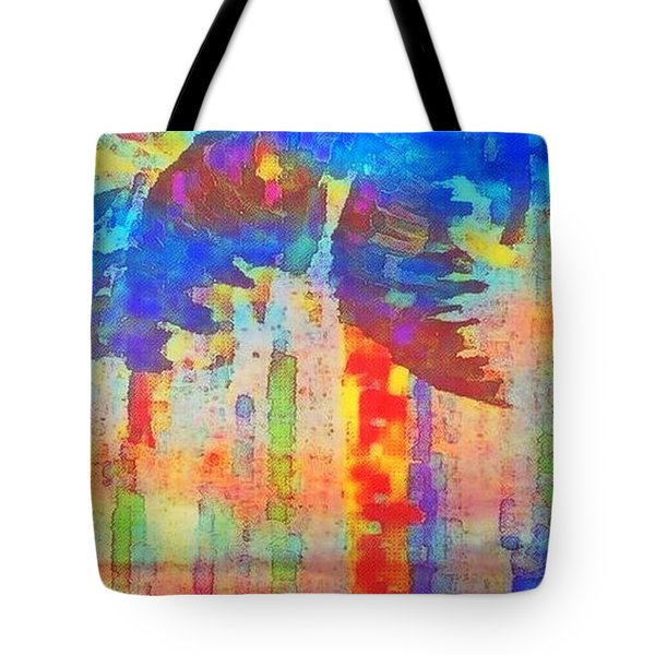 Tote Bag featuring the painting Palm Party by Holly Martinson