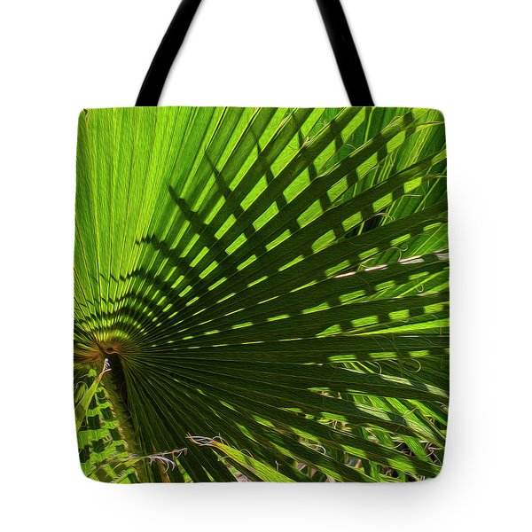 Tote Bag featuring the photograph Palm Pattern No.1 by Mark Myhaver