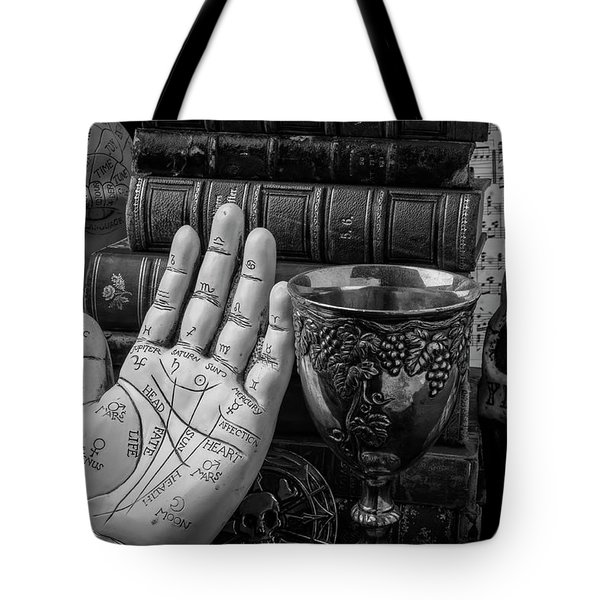 Palm Reading And Forecasting Tote Bag