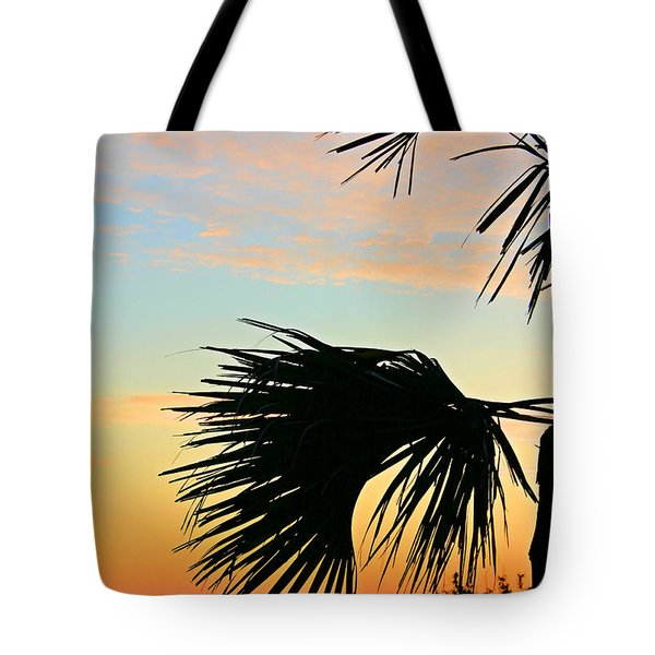 Tote Bag featuring the photograph Palm Silhouette by Kristin Elmquist