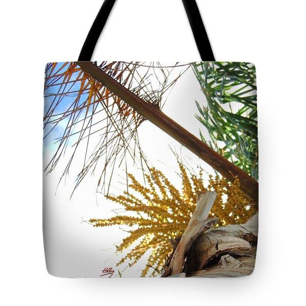 Palm Sky View Tote Bag by Linda Hollis