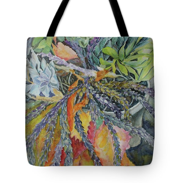 Tote Bag featuring the painting Palm Springs Cacti Garden by Joanne Smoley
