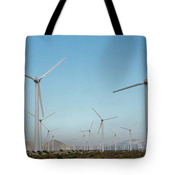 Palm Springs Windfarm Tote Bag