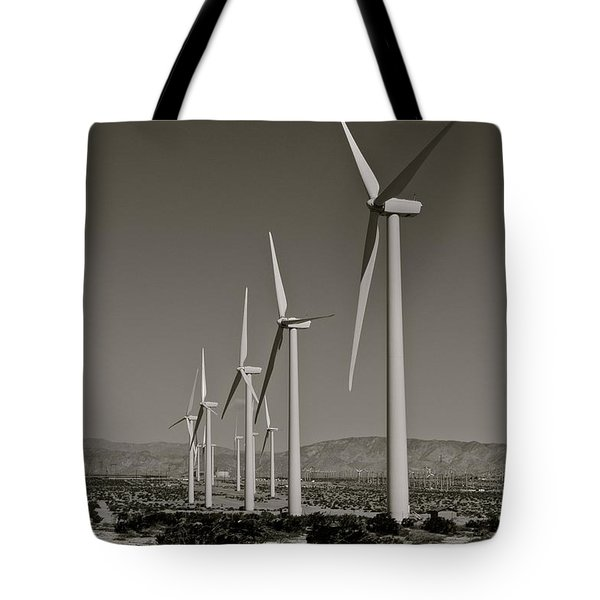 Palm Springs Windmills I In B And W Tote Bag